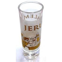 Jerusalem Of Gold Shot Glass- Long