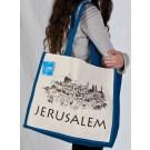 Jerusalem Elegant Blue Large Bag