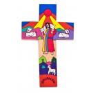 Wooden Cross Jesus Christ- The Good Shephered
