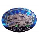 Shiny Magnet- Jerusalem Oval