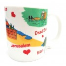 Israel Map Colorful 11oz Mug